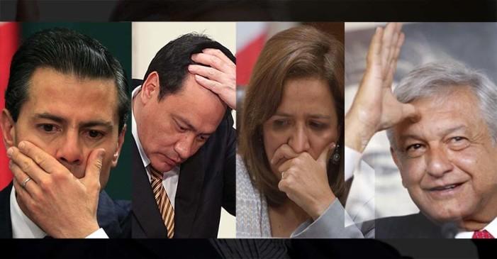 AMLO lidera preferencias, Frente PAN-PRD se cae y Meade no levanta: El Universal y El Financiero