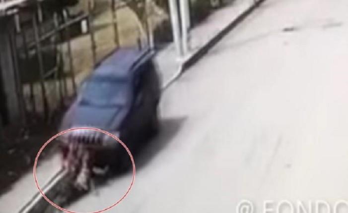 Atropella intencionalmente a mujer y huye (VIDEO, imágenes muy fuertes)