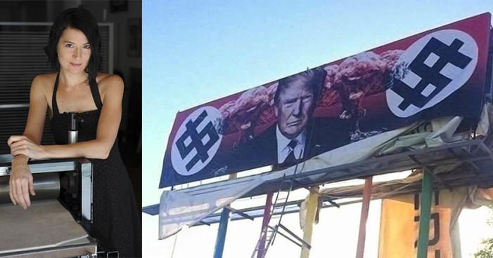 Tras colocar espectacular contra Trump, artista recibe amenazas