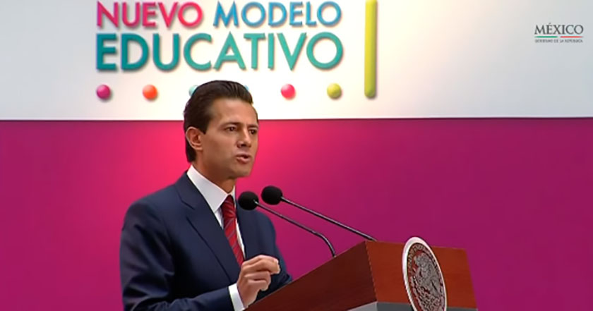 epn enrique peña nieto modelo educativo sep educación reforma educativa