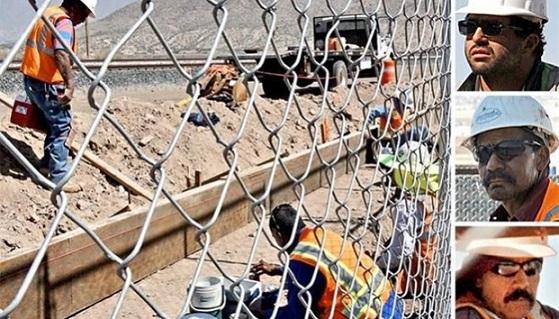 Manos mexicanas refuerzan la valla fronteriza
