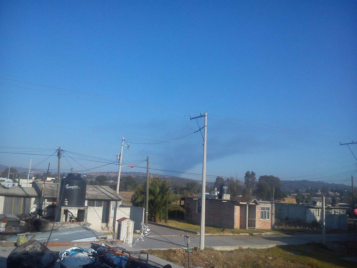 Estalla un ducto de Pemex en Tlaxcala