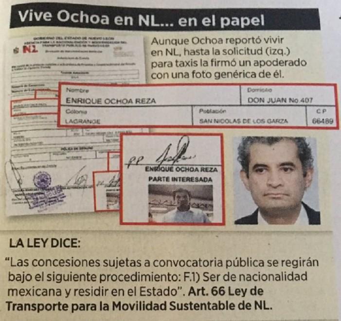 Mintió Ochoa Reza para conseguir sus taxis en NL