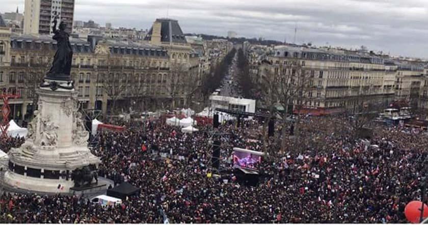 paris francia brutalidad policiaca manifestación policía gran