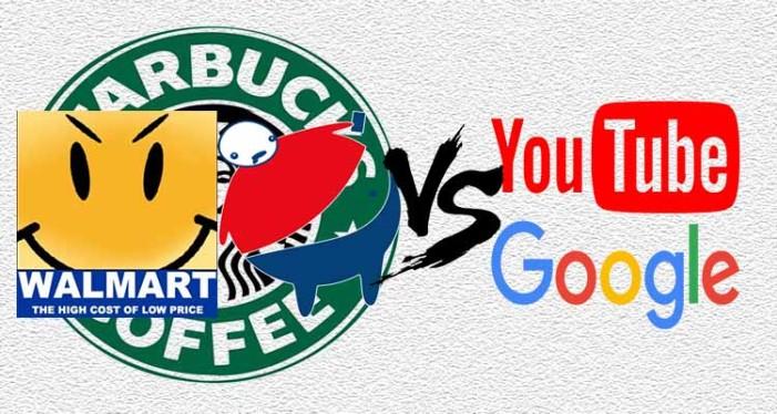 Pepsi, Wal-Mart y Starbucks se unen al boicot contra YouTube-Google