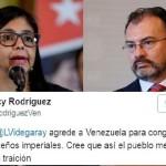 Videgaray confronta a México con Venezuela; Caracas lo califica de 'servil'