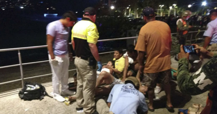 Balacera en Acapulco Guerrero turistas heridos violencia inseguridad homicidio víctimas de crimen organizado