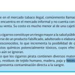 'Cigarros pirata contienen tejido humano y heces fecales': Conadic