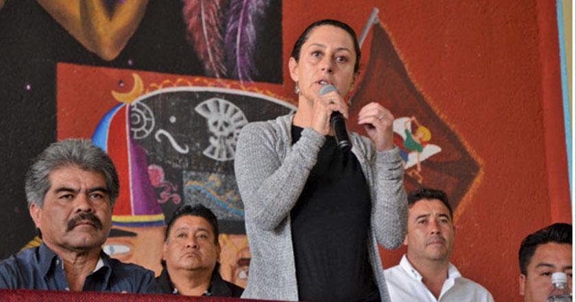 Claudia Sheinbaum delegada tlalpan morena pobladores agua ajusco