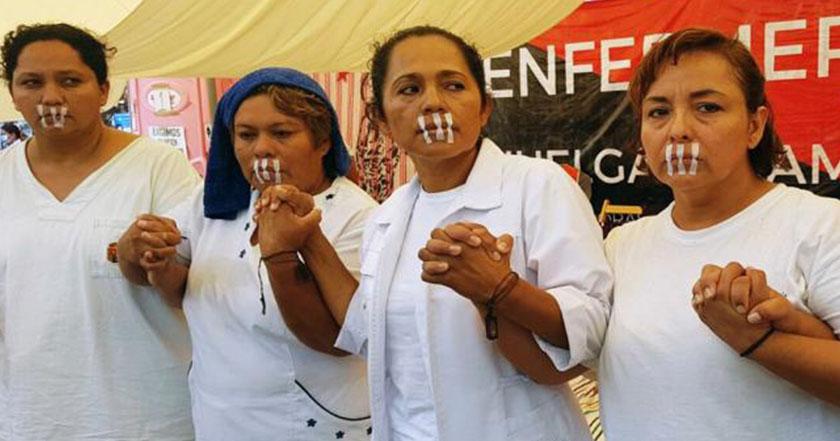 Enfermeras de Chiapas llevan 8 días de ayuno 'Seguiremos con la resistencia'
