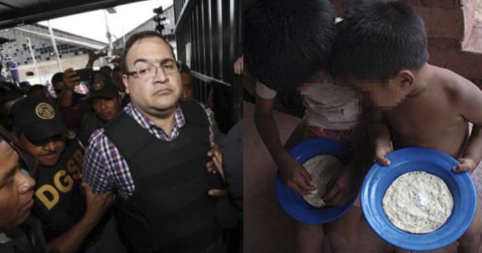 Comida de Duarte en prisión sería mejor que la de millones de mexicanos