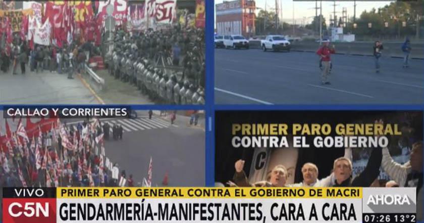 argentina primer paro general vs gobierno presidente mauricio macri