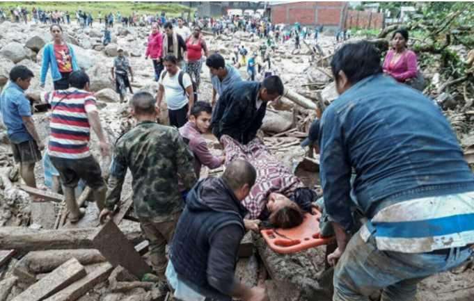 Colombia: avalancha que deja más de 110 muertos
