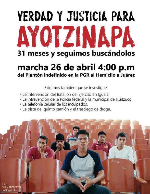 Padres de Ayotzinapa convocan marcha a 31 meses sin justicia