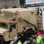Ciudadanos de Corea del Sur protestan contra militares de EU