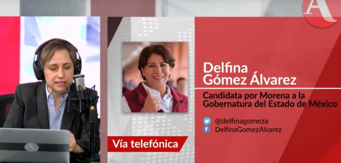Delfina Gómez con Aristegui: 'Josefina sin calidad moral, recibió mil millones de Peña'