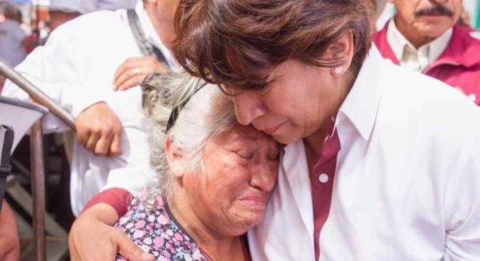 Campesinos respaldan a Delfina Gómez, piden que Zepeda decline