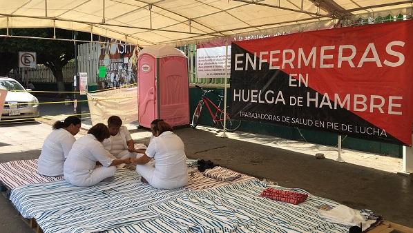 enfermeras huelga de hambre chiapas