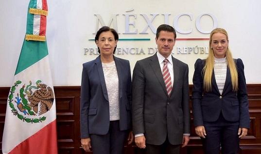 Peña se compromete con esposa de Leopoldo López rescatar democracia en Venezuela