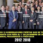 10 de los 19 gobernadores priístas a lado de Peña, están presos, procesados o prófugos