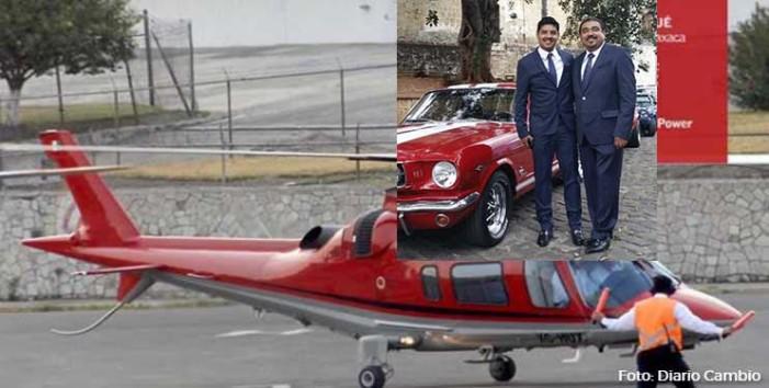 Hijo de alto funcionario priista de Oaxaca, utilizó helicóptero oficial para vacacionar
