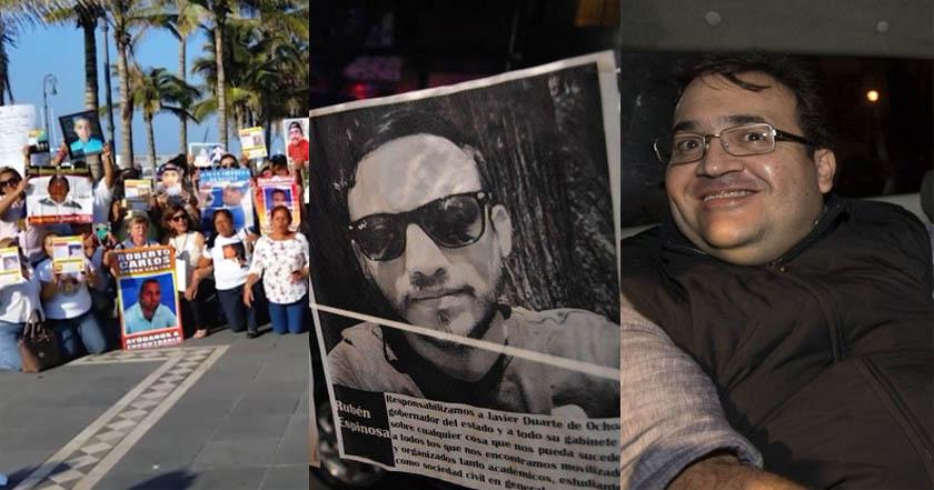 javier duarte veracruz violencia desapariciones desaparecidos periodistas