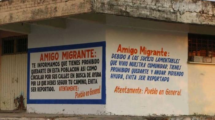 Muro en Oaxaca, advierte a migrantes que no son bien recibidos en su pueblo