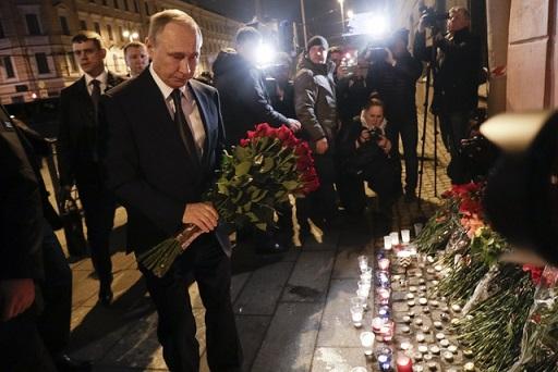 Putin acude al lugar del atentado en San Petersburgo