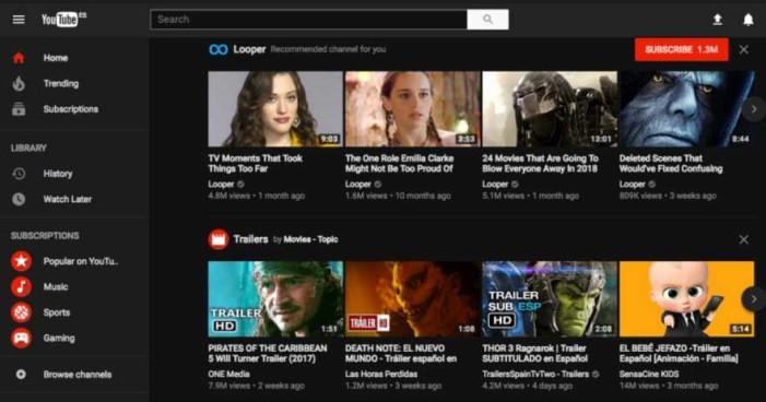 Como activar el 'modo oscuro y oculto' de YouTube