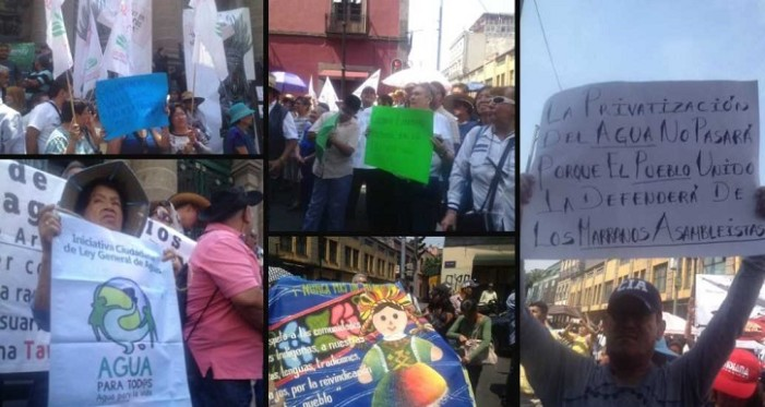 Protestan contra iniciativa del PAN que privatiza el agua en la Cd. de México