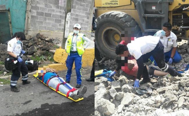 Muere trabajador de la delegación Iztapalapa por caída de barda