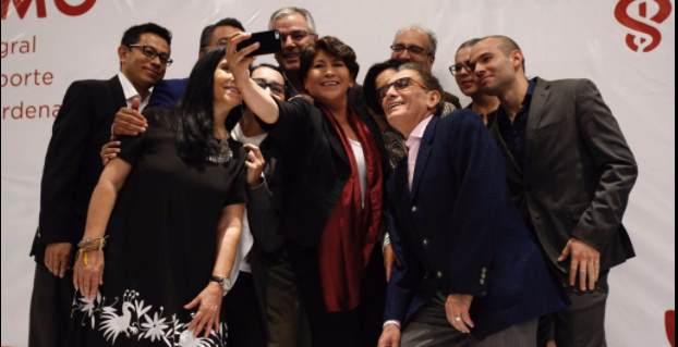 Delfina Gómez se reúne con empresarios; presenta proyecto económico