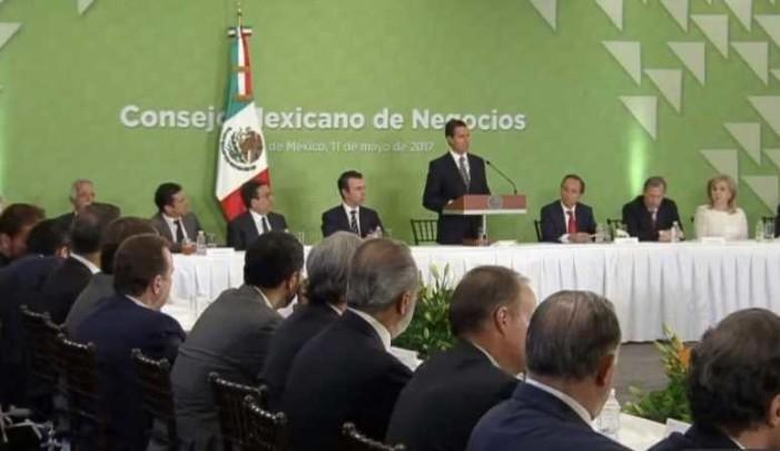 Empresarios anuncian a Peña que invertirán menos este año que en 2016