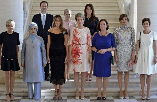 Marido del primer ministro de Luxemburgo, se fotografío con las 'primeras damas'