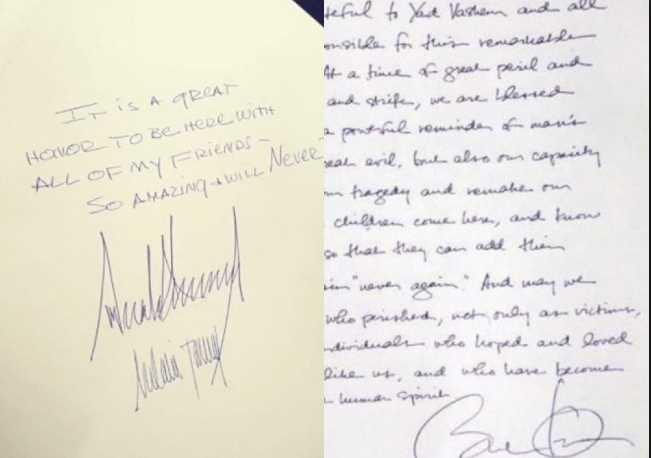 Polémica firma de Trump en Museo del Holcausto: ¡qué increíble, nunca lo olvidaré!
