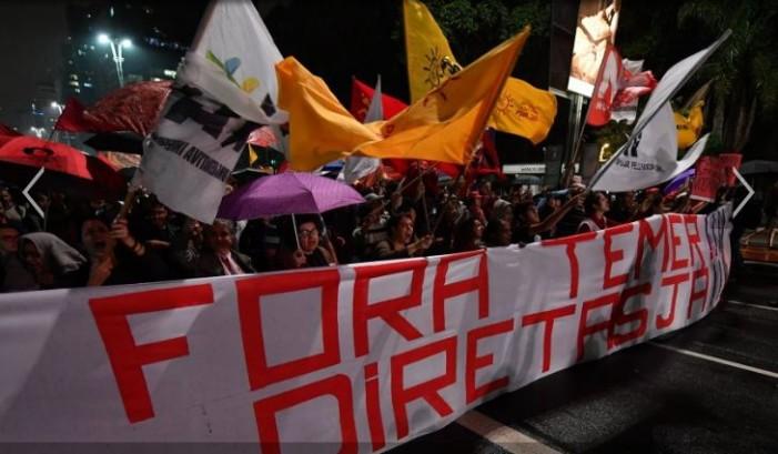 Miles en Brasil contra Temer; exigen prontas elecciones