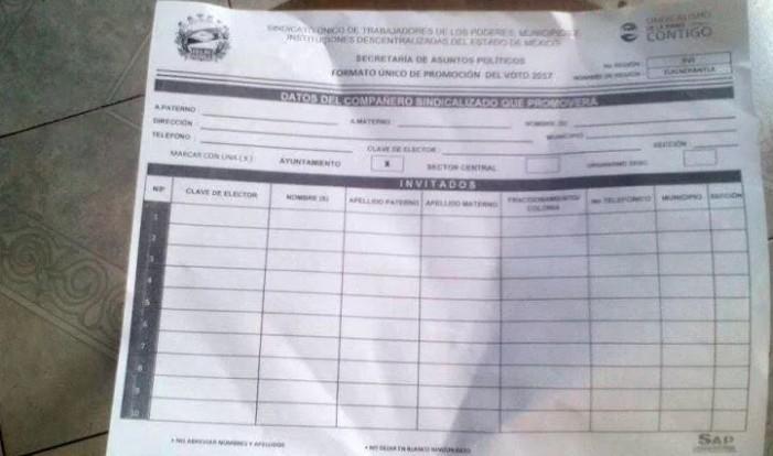 Empleados municipales del Edomex recibirían amenazas para conseguir votos para Del Mazo