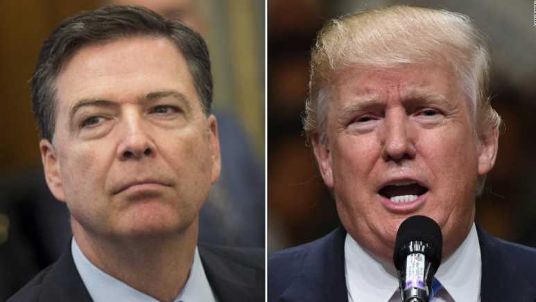 James Comey, Donald Trump