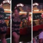 Lady Taka Taka se cae de trajinera mientras bailaba (VIDEO)