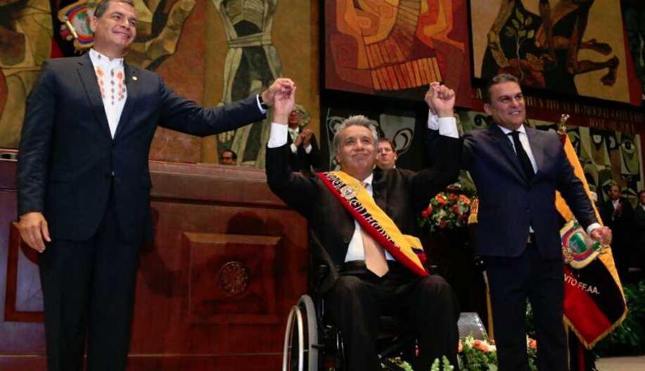 A Mauricio Macri le dio 'soroche' durante la investidura de Lenín Moreno