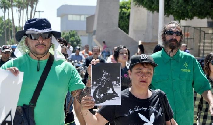Motociclistas protestaron contra la liberación del ebrio que mató a su compañero