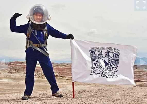 Muestras recolectadas por estudiante en 'Marte' serán analizadas en la UNAM