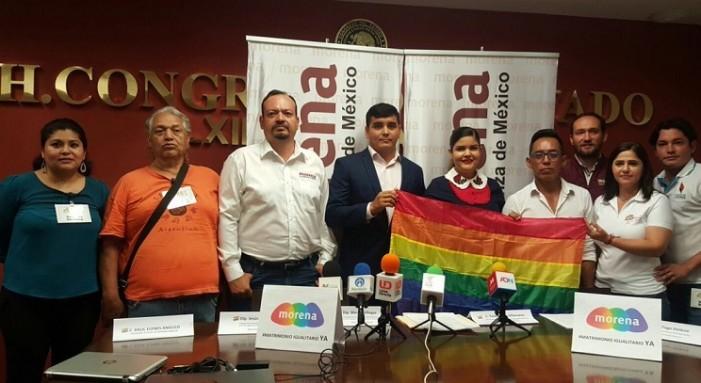Morena presenta al Congreso de Sinaloa iniciativa de matrimonio igualitario