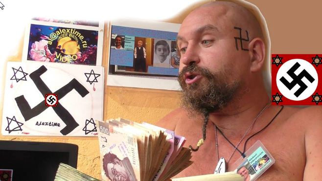 "En Cancún, ruso ""nazi"" ofende a mexicanos #VIDEO"