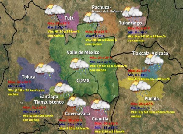 Altas temperaturas y fuertes lluvias en 20 estados de México pronostica SMN