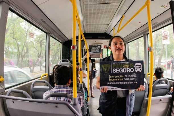 UNAM lanza 'Programa Universitario Pumabús Seguro' para prevenir incidentes