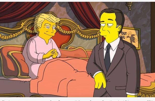 Los Simpson revelan dónde guarda Trump cintas que comprometen al exdirector del FBI