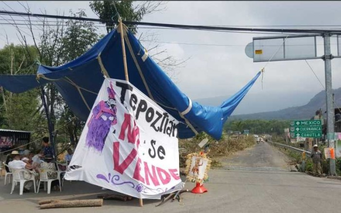 Aumenta el rechazo a la autopista en Tepoztlan