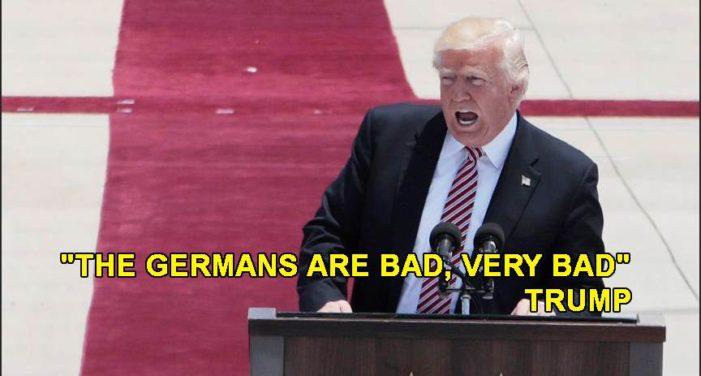 'Los alemanes son malos, muy malos', señala Donald Trump