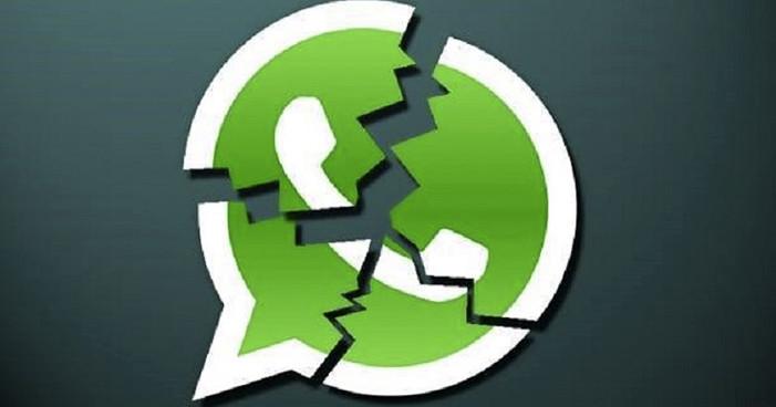 Típico: se cae Whatsapp antes de que acabe el año